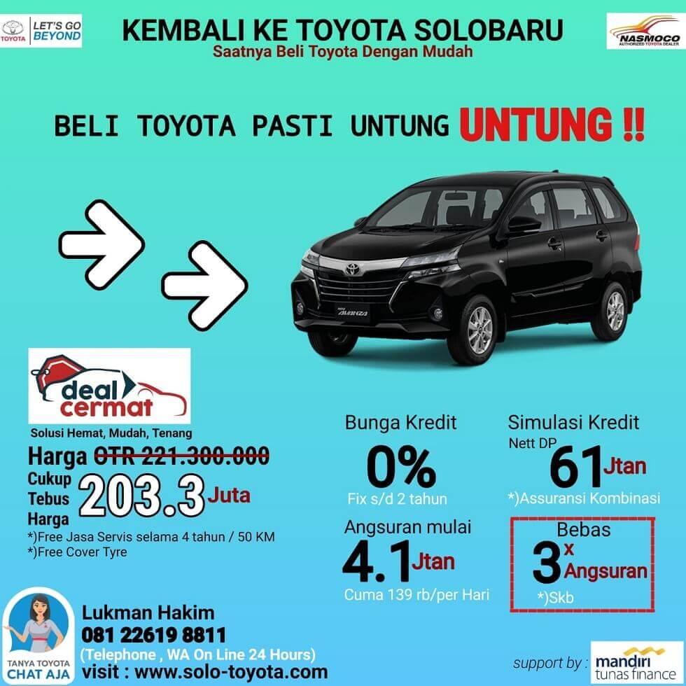 Tebus Harga Murah Mobil Toyota Avanza Di Dealer Toyota Solo