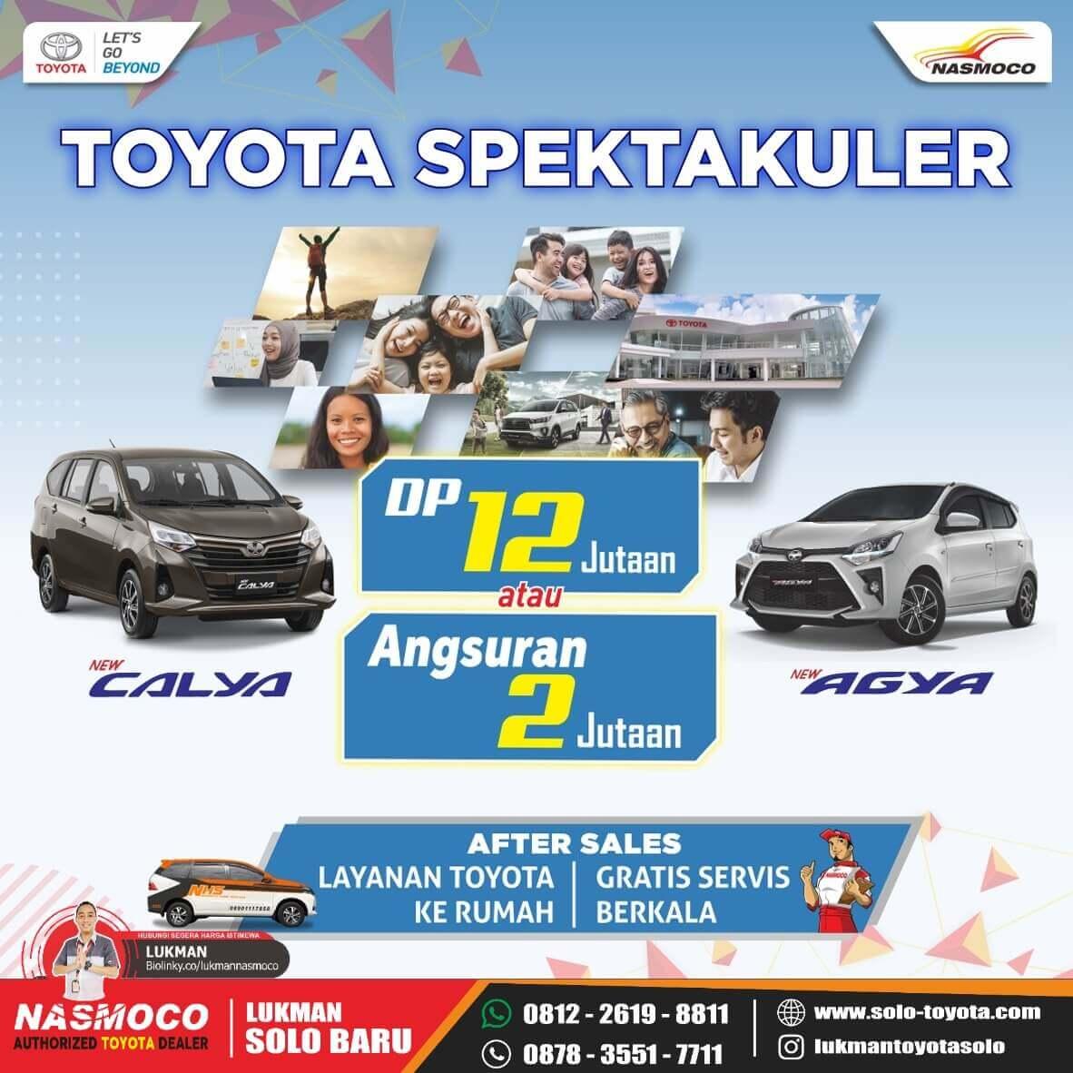 Promo Spektakuler Beli Toyota Agya Dan Calya Di Dealer Toyota Solo